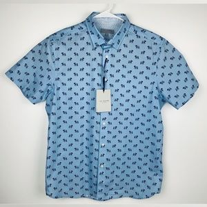Ted Baker Short Sleeve Button Up Shirt Elephant 4